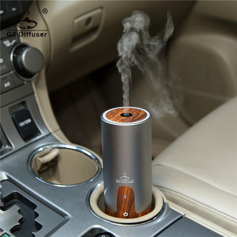 GX.Diffuser Portable Car USB Ultrasonic Humidifier Essential Oil Diffuser Aroma Diffuser <font><b>Air</b></font> Purifier Aromatherapy Mist Maker