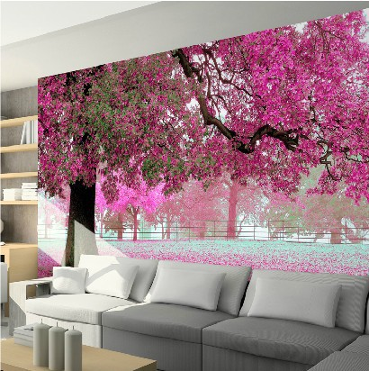 3D stereoscopic television sofa large mural entrance hallway ...