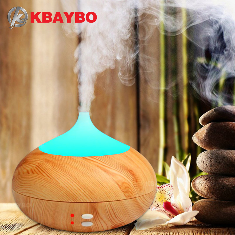 300ml Aromatherapy Essential Oil Diffuser Ultrasonic Air Humidifier purifier with Wood Grain LED Lights for Office Home Bedroom brand new portable led lights wood grain expansion machine negative ion oil diffuser humidifier aromatherapy machine for home