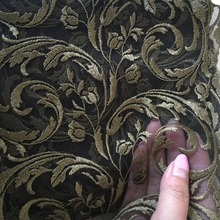 Free Shipping 3 Meters 2017 Hot Sale Gold Mesh Lace Trim 17.7cmWidth Luxury Embroidery Dark Gold Lace Fabric for Wedding Dresses