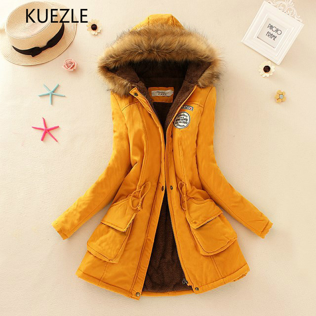 Winter Jacket Women 2019 Thick Warm Hooded   Parka   Mujer Cotton Padded Coat bomberka Long Paragraph Plus Size Slim Jacket Female