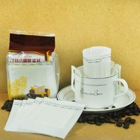50Pcs Pack Coffee Filters Packaging Coffee Tea Bags With String Seal Paper Portable Drip Coffee Cup