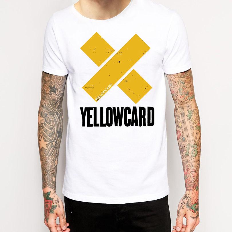 Basic Tops Yellowcard T Shirt New Merchandise Pop Punk Mens Crew Neck Short-Sleeve Printing Shirt