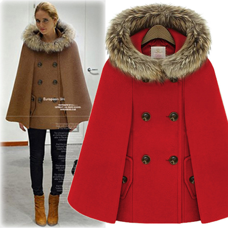 Wool & Blends Disciplined 2018 Wool Full Long Solid For Dovetail Hooded Top Fashion Sobretudo Abrigo Mujer Winter New Hair Cap Cloak Loose Coat Woman