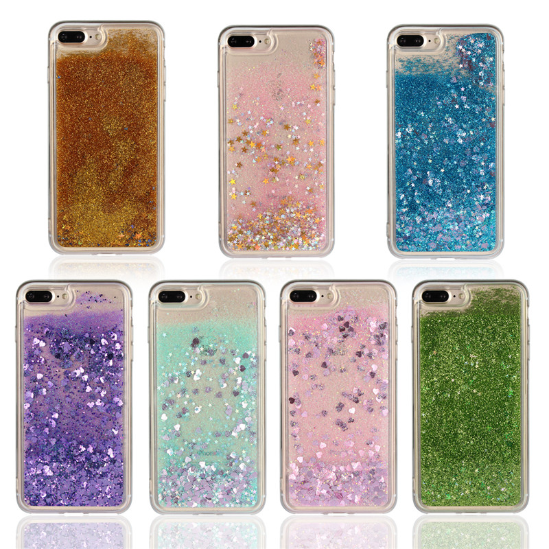 Soft Liquid Cases For iPhone 7 8 PLUS 8Plus Case Cover Cute Quicksand Shell Coque Etui Hoesje Carcasa Capa Coque For iPhone7Plus