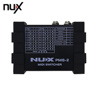 NUX PMS 2 Portable Guitar Switcher MIDI Switcher Remote Control 6 Devices 128 Presets Lock Function