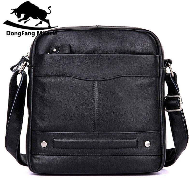 New Men Messenger Bags Top Genuine Leather Designer Handbags Quality Men's Bag Cowhide Man Shoulder Cross Body Bag Male цены онлайн