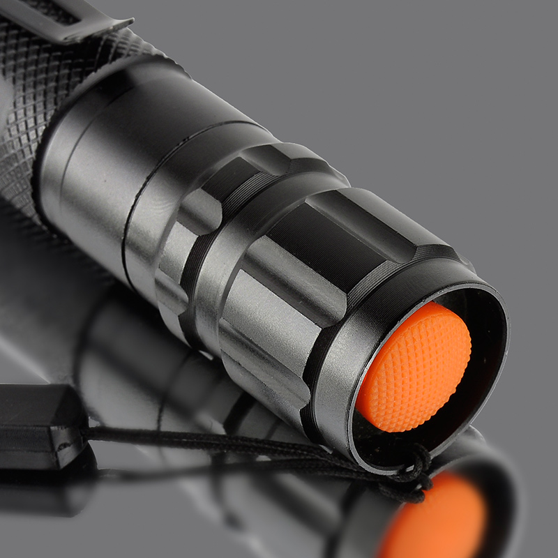 Black T6 LED Flashlight Torch Telescopic Zoom Flash Tactical Flashlight Lantern 1000LM Drop Shipping