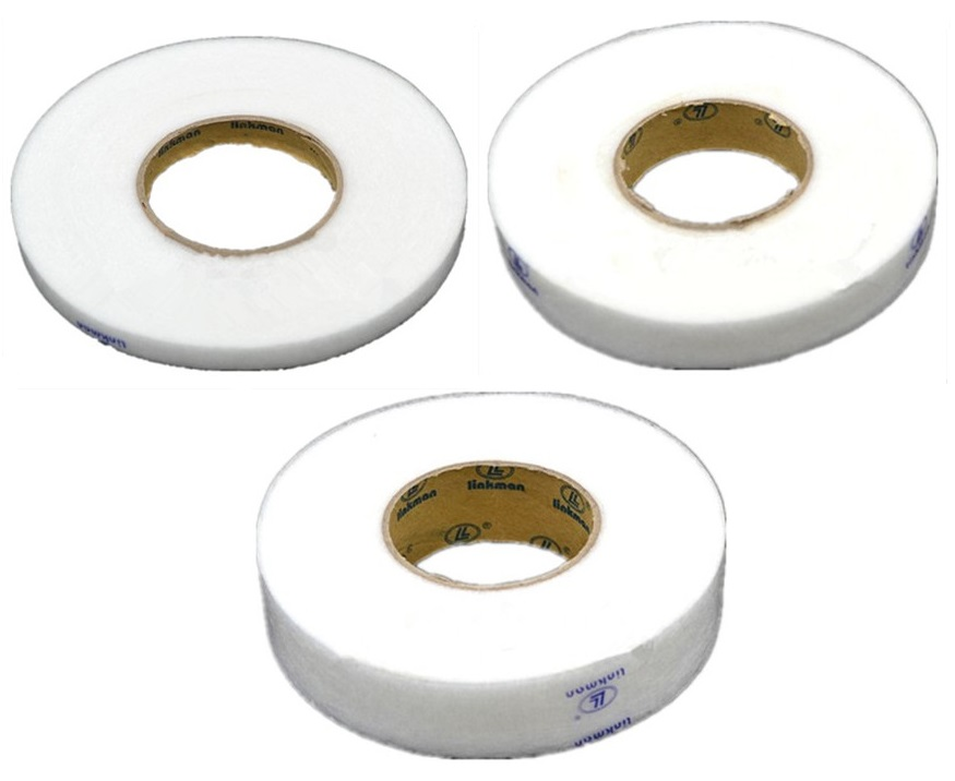100 Yards 91 Meters White Double Sided Adhesive Tape Fusible Interlining Fabric Tape Iron On DIY Cloth Apparel Sewing Accessory