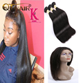 360 Lace Frontal With Bundle 7A Peruvian Straight 360 Frontal With Bundles Top 360 Lace Frontal Closure With Bundles Human Hair