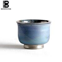 50 мл ручной работы Керамика porcelian печи позолоченного серебра Чай чашка кунг фу Чай комплект ради вина Чёрный чай Кофе чашки посуда для напит