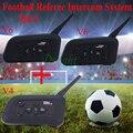 2 Unids V6 + V4 Vnetphone Comunicación Árbitros de Fútbol Árbitro de Fútbol Profesional de Sistema de Intercomunicación Bluetooth Headset Interphone