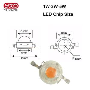 Image 2 - 100pcs/lot 1w 3w 5w full spectrum led grow light chip , best bridgelux led grow chip for indoor plant grow