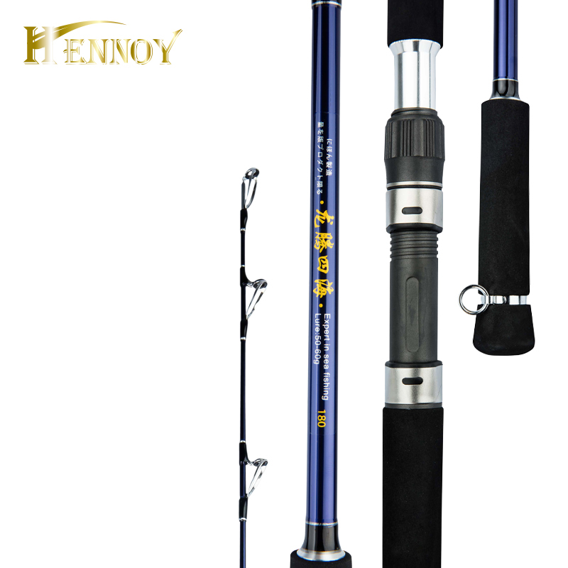 Hennoy 2 Secțiune Superhard Salt Water Spinning Rod de pescuit 1.8m - Pescuit