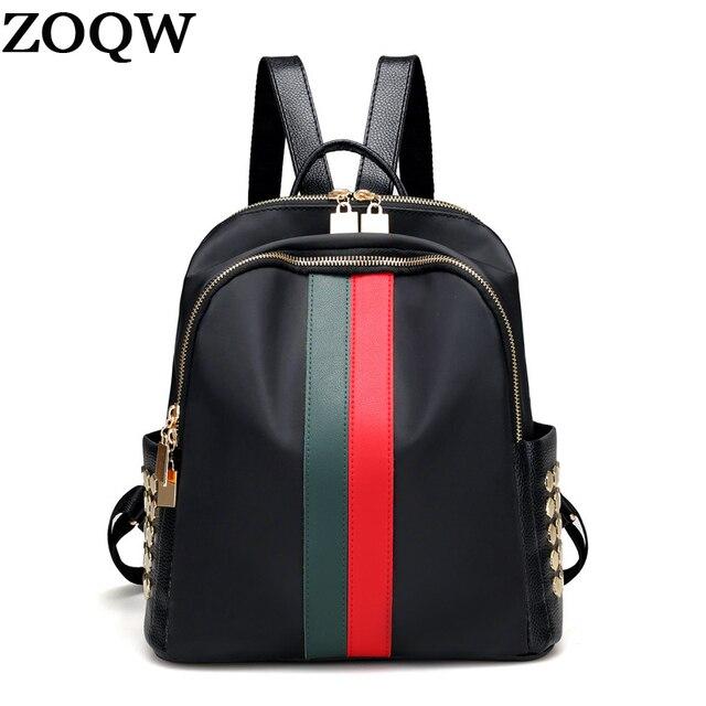 671b2e1cc8b ZOQW 2018 Korea Oxford Small Backpack Female Rivet Women s Backpacks For  Girls School Bag mochila Travel Bagpack sac a dos YQ449