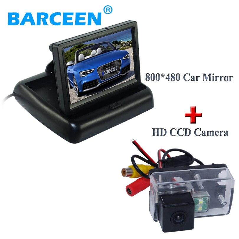 Pour Peugeot 206/207/407/307 (berline)/307SM caméra arrière de voiture de vision nocturne colorée avec moniteur arrière de voiture 4.3