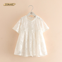 2017 Newest Summer Cute Lace Baby Girls Dress Korean Style Trendy And Retro Princess Dresses Kids