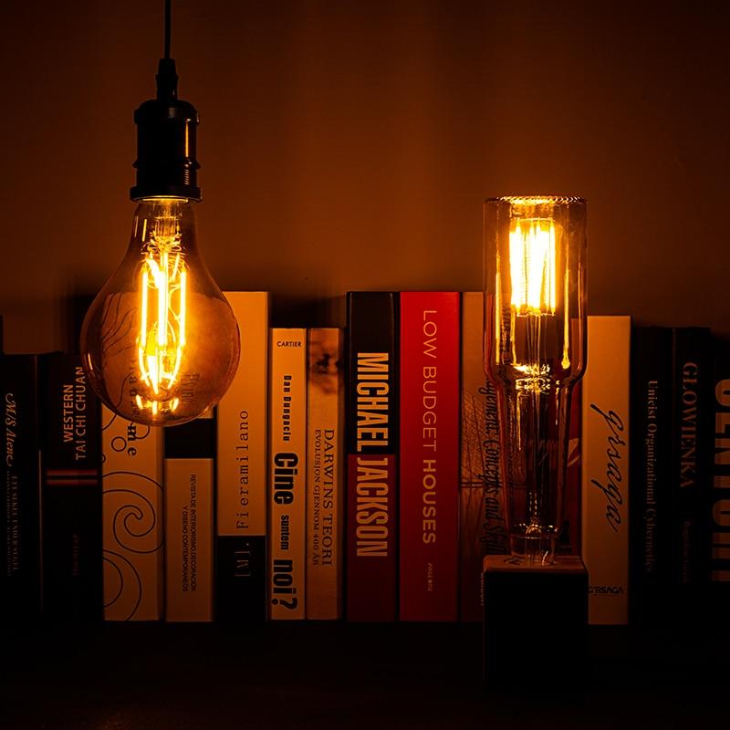 Vintage LED Filament Bulb E27 4W 220V LED Novel Lamp Unique Design Edison Lampada Retro Ampoule Yellow Warm Bulb Bombilla Light
