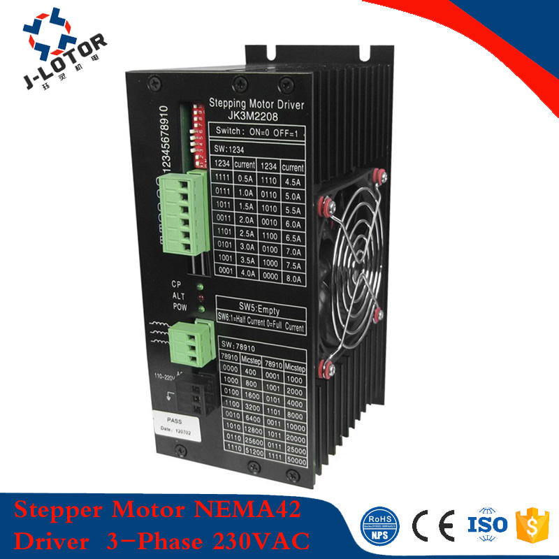 3 phase stepper motor driver for NEMA42 stepper motor 110mm stepper motor driver,130mm stepping driver 230V AC input step motor free dhl used 3 phase cr06550 ac servo motor driver leadshine vs a4988 stepper motor driver module ems