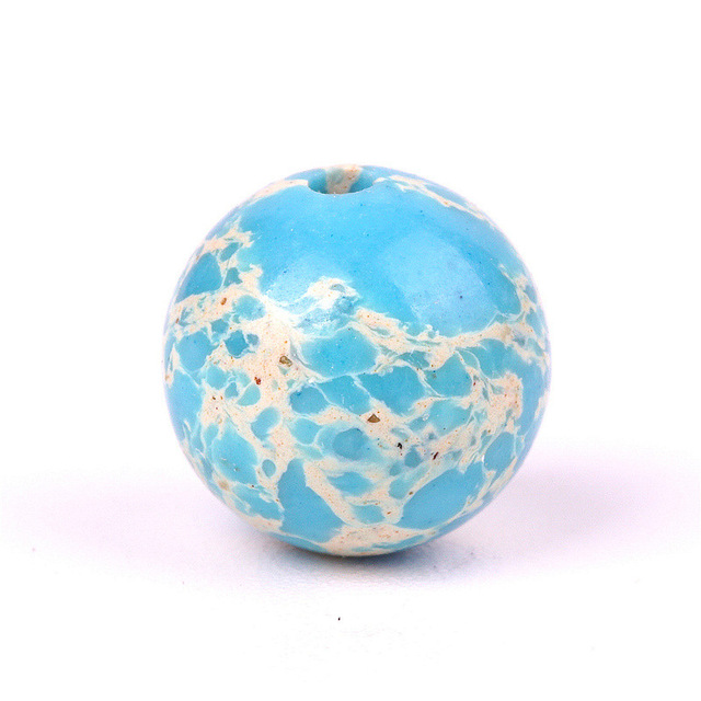 Topgoods Natural Sea Sediment Stone Beads Light Blue Gemstone Emperor Snakeskin Loose Beads 8mm Birthstone For Jewelry Making Beads Aliexpress