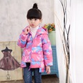 Children Outerwear Warm Coat Winter Jacket For Girls Parka Snow Clothes Flower Jacket Down Jacket For Girl Snowsuit YL10