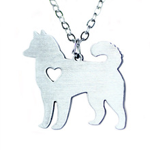 Cute animal series stainless steel dog brand jewelry Alaskan Malamute necklace & pendant for love animal your friend gift N0522
