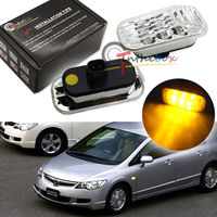 Amber LED Side Marker Lights For Honda Accord Civic CR X S2000 Acura Integra RSX