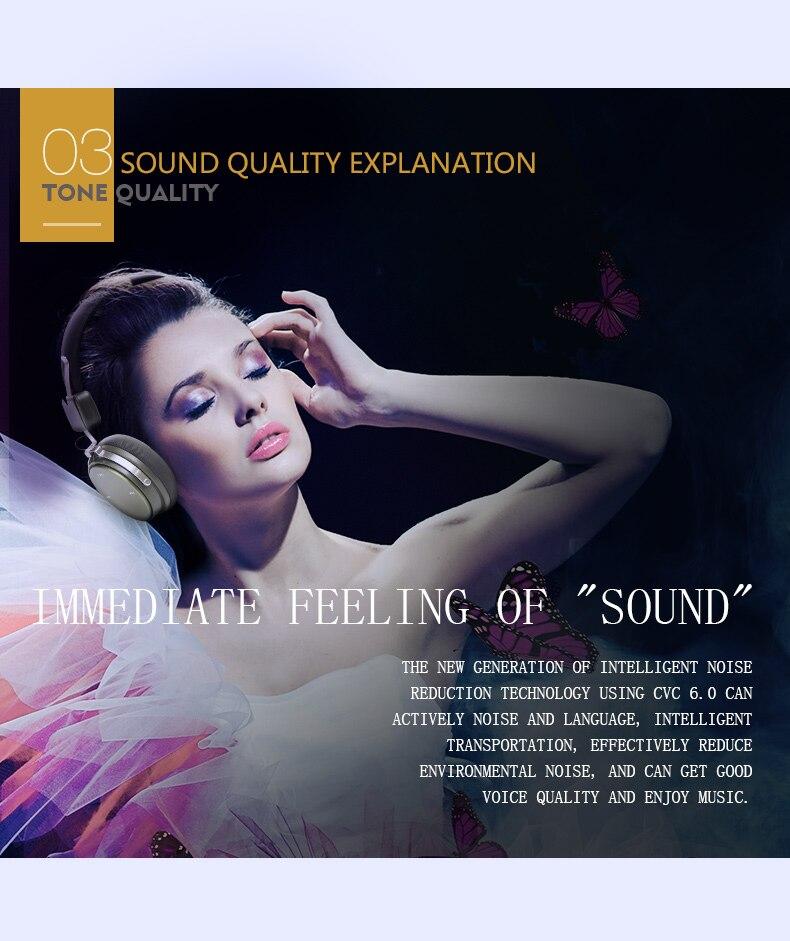 Kapcice ml700 fones de ouvido bluetooth estéreo