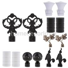 1 Pair Metal Drapery Curtain Rod Ends Caps Finials For 22mm/ 28mm Dia. Pole