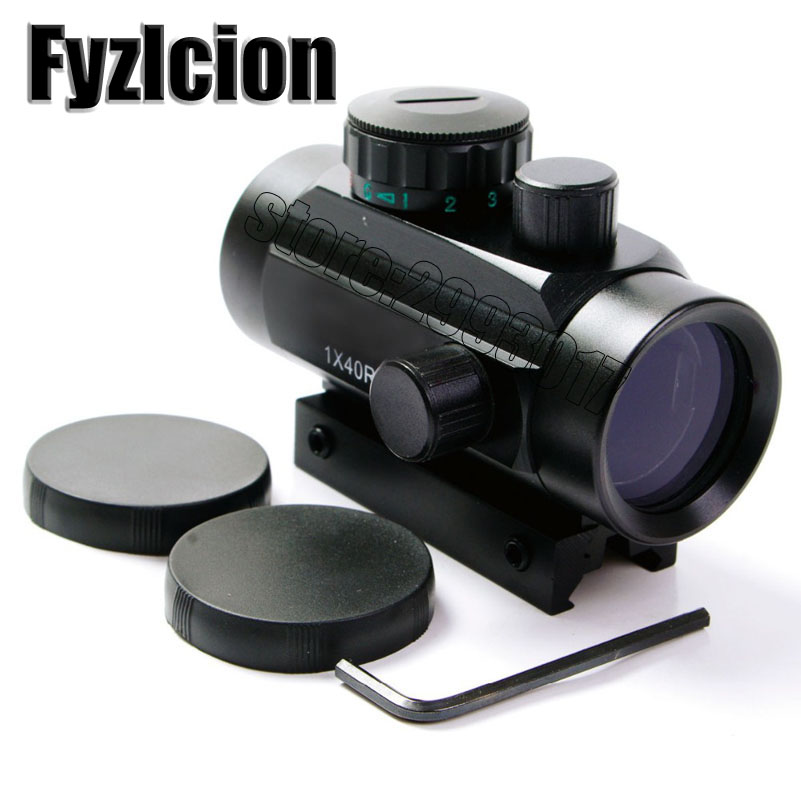 Fyzlcion 1x40 Red Dot RifleScope Sight with <font><b>11mm</b></font>/20mm Picatinny Weaver Rail Mount of Hunting Scopes for Rifle and Glock O