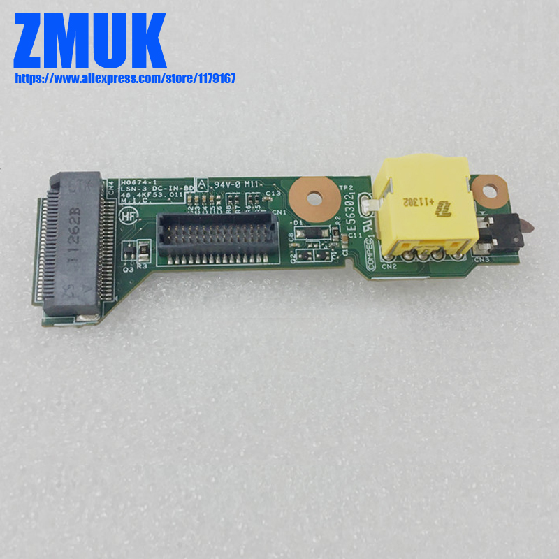 Original DC-IN Sub Board For Lenovo Thinkpad T420S T420SI T430S T430SI Series, FRU 04W1699 48.4QZ14.0SB 55.4QZ04.D11G usb dock board w cable for lenovo thinkpad helix 3xxx series fru 04x0511 48 4ww02 031 0c55439