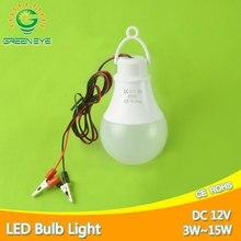 Ultra parlak taşınabilir asmak işık lambası klip ile DC 12V LED ampul 3W 5W 7W 9W W 12W 15W açık parti kamp gece balıkçılık acil