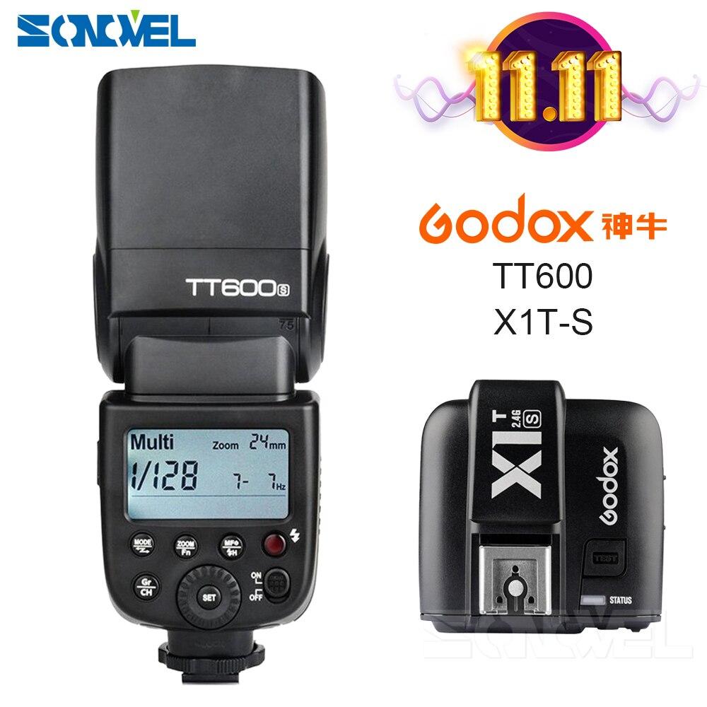 2x godox mini speedlite godox tt350s 2 4g ttl speedlite camera flash x1t s transmitter for sony a7 a7r a7r ii a6000 a6500 etc Godox TT600S GN60 2.4G Camera Flash Speedlite +X1T-S Transmitter for Sony Camera A7 A7S A7R A7 II A6000 A58 A99