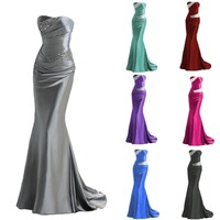 2014 New Dress Elie Saab New Upscale Bridal Gown Evening Dress Wholesale Silver Dress Vestidos Festa