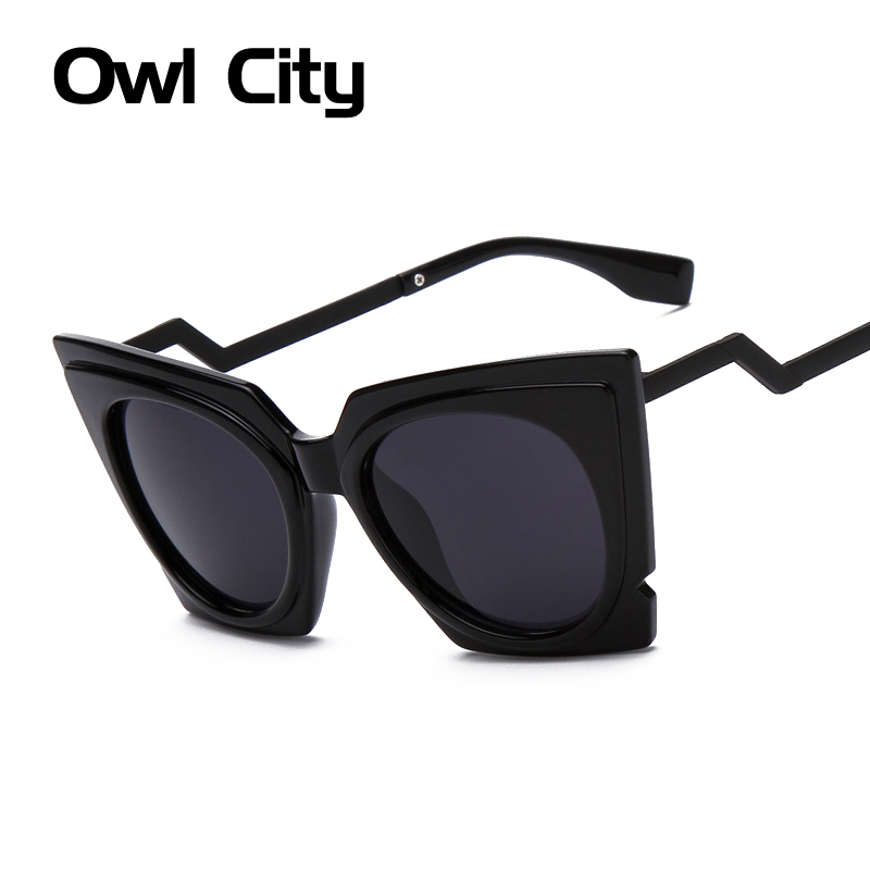 Fashion Brand Oversized frame Cat eye Sunglasses Women ...