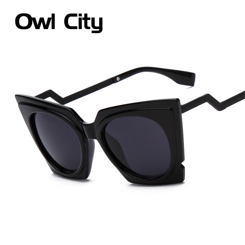Bent Frame On Glasses : Fashion Brand Oversized frame Cat eye Sunglasses Women ...