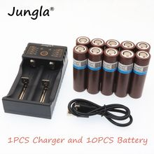 100% original 18650 battery rechargeable battery for LG HG2 18650 3000 mah lithium battery +1PCS 18650 charger(China)
