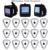 Restaurante Pager Sem Fio Chamando Sistema de 3 pcs Relógio de Pulso Botão Pager Chamada Transmissor Receptor + 15 pcs Sliver F3307