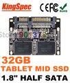 """Kingspec 1.8 """"metade Módulo SATA III SSD de 1.8 gb SATA II SSD 32 GB HDD 4-Channel Solid State Drive Para Casa HD Player, Tablet PC, UMPC"""