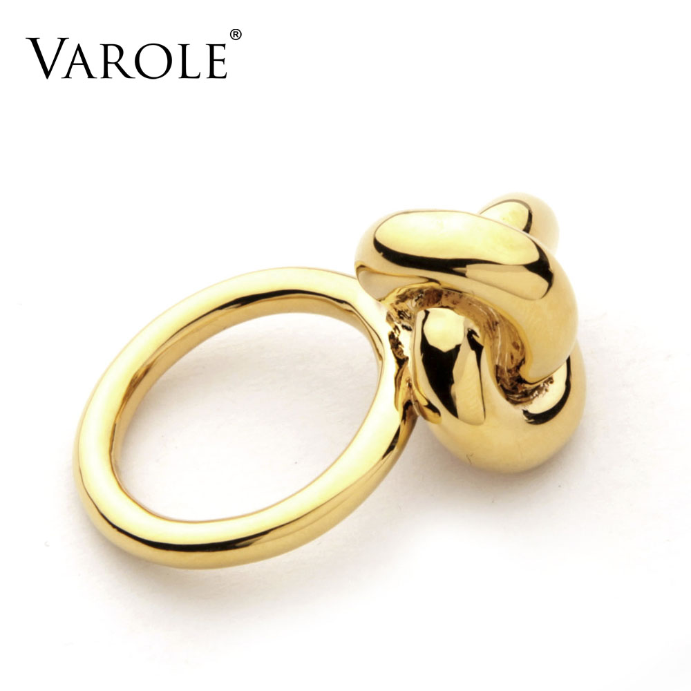 2017 New VAROLE Fashion infinity Knotting Ring Design Gold Color ...