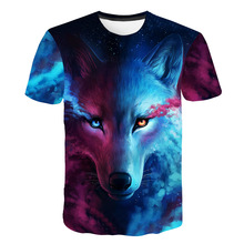2019 Newest Wolf 3D Print Animal Cool Funny T-Shirt T Shirt Male Fashion tshirt Male футболка мужская t shirt homme 브롤스타즈  ajax мужская футболка 3d t