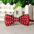 SHENNAIWEI 2016 Dark red boy bow tie white dots cheap bowties lote gravatas borboleta lotes