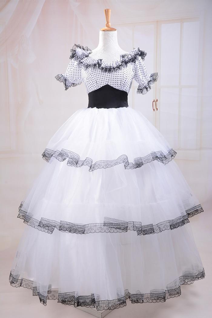 Gothique Lolita robe princesse robe cosplay tailleur victorien robe Dot shorts robe de soirée sur mesure