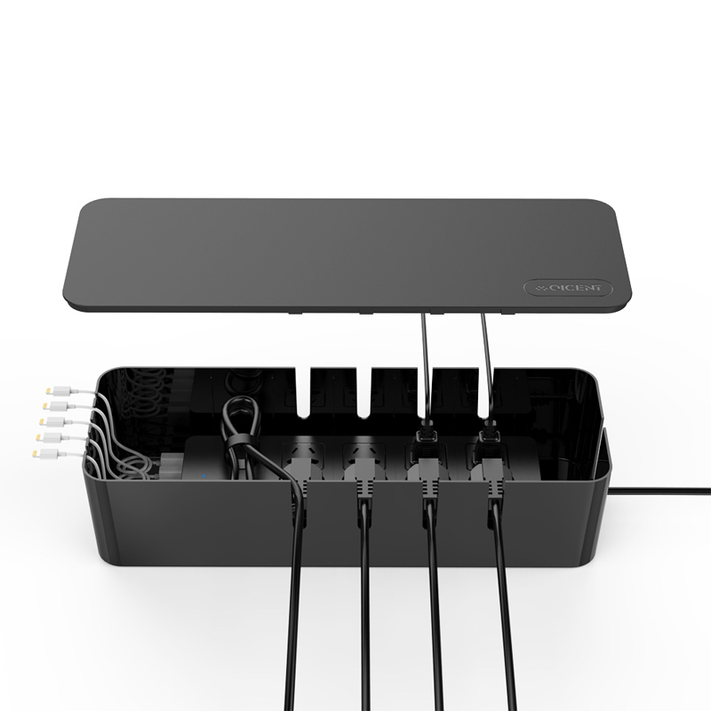 qicent cable management electrical outlet boxes 15 34 5 47 3 54in rh aliexpress com Cable Organizer Wall Underside of Desk Cord Organizer