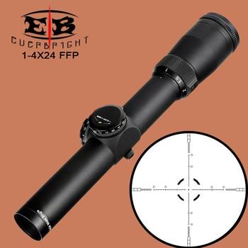 цена на EB 1-4X24 Tactical Compact Scope FFP Optical Sights First Focal Plane Glass Reticle Hunting Riflescope Wide Angle for Rifle