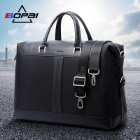 BOPAI Nylon Men Travel Bags Waterproof Work Duffle Bags Male Crossbody Shoulder Bags Black Travelling Bags and Luggage for Men