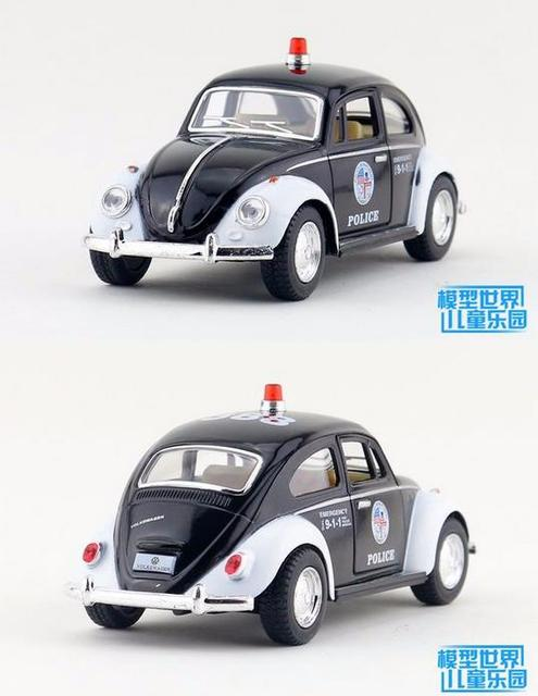 Candice guo alloy car model Kinsmart toy 1:32 police policeman plastic metal motor beetle 1967 vintage children birthday gift
