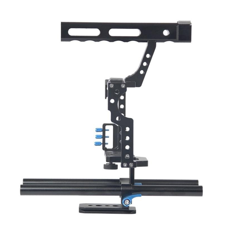 Camera Cage Protecting Case Mount Stabilizer And Top Handle Grip Cage Kit For Sony A7II A7R A73 A6300 A6000 Panasonic GH4 A9
