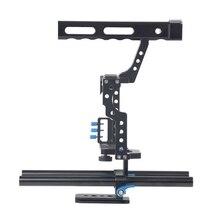 Macchina fotografica Gabbia di Protezione Caso di Montaggio Stabilizzatore e Top Handle Grip Cage kit per Sony A7II A7R A73 A6300 A6000 Panasonic GH4 A9