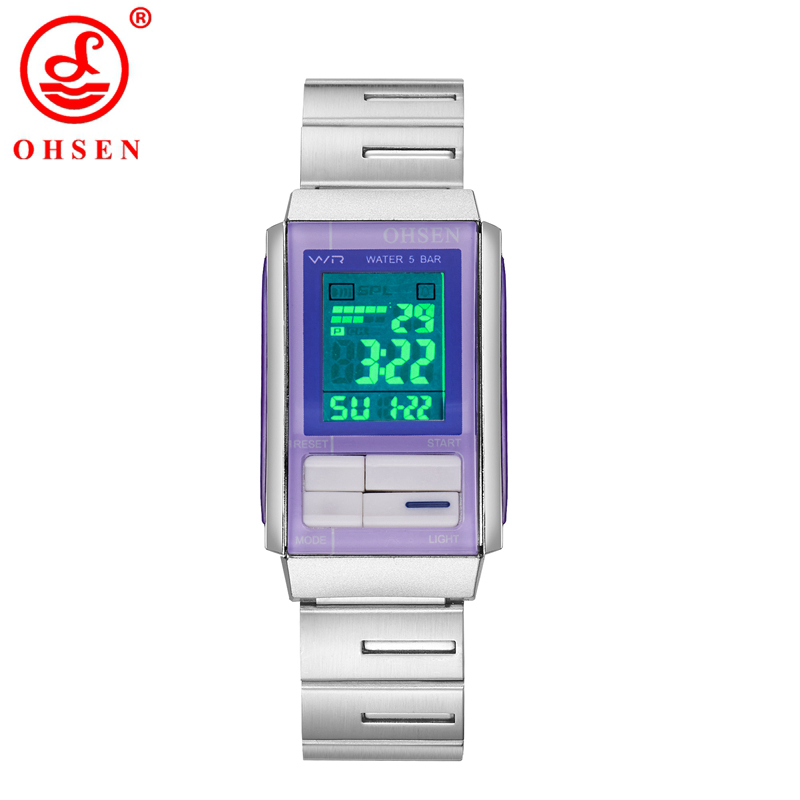ohsen new sport watches led electronic digital